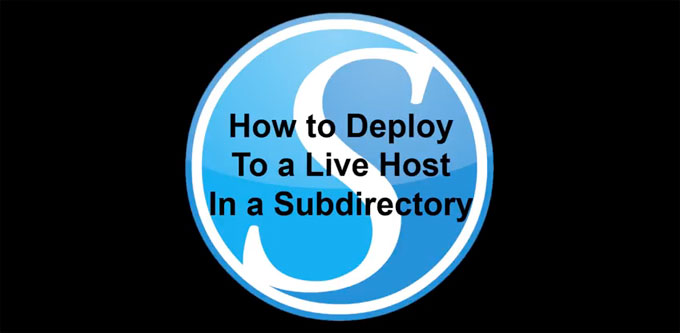 Deploy To Subdirectory