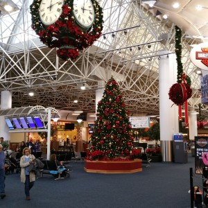 The Milwaukee Airport Was All Decked Out For Christmas. It Was Good To Be Home.
