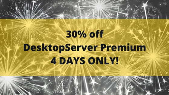 30 percent off desktopserver